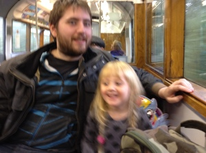 On the Island Line Train down to Shanklin
