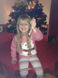 Christmas is all about Evie for us and making sure she has a great day