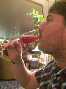 Enjoying a Kir Royale