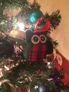 Our tradition of getting a new decoration each year has lead to a large mix of owls...