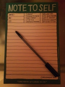 It's important to make a daily to do list to keep organised.